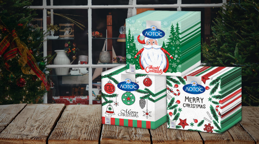 Three new designs of Christmas napkins in 2019